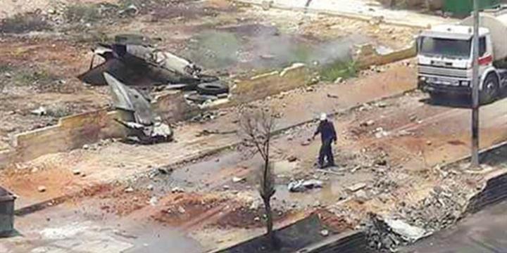 Esed'in Uçağı Şehre Çakıldı