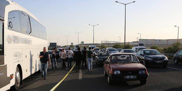 Ankara'da Şehirlerarası Yolcu Otobüslerine Silahlı Saldırı