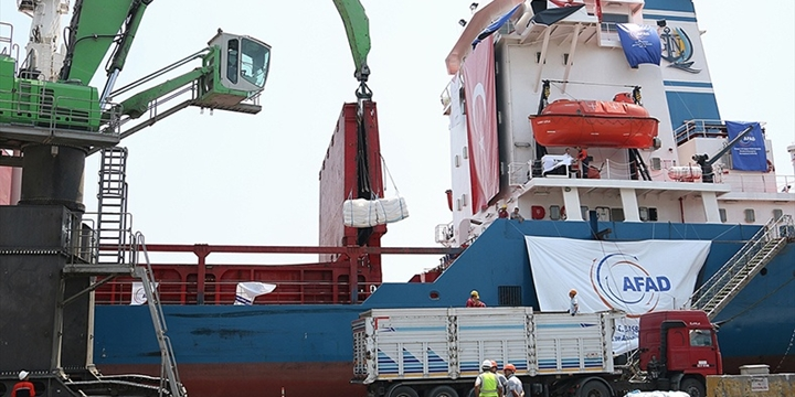 Gazze'ye Yardım Ulaştıracak Gemi Aşdod Limanı'na Ulaştı