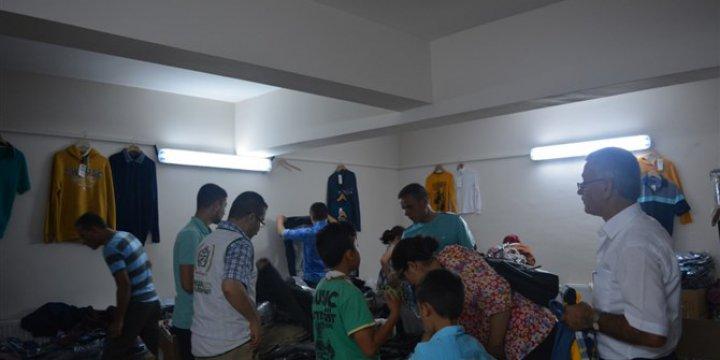İHH Amasya Temsilciliğinden Muhacirlere Bayramlık Elbise Yardımı