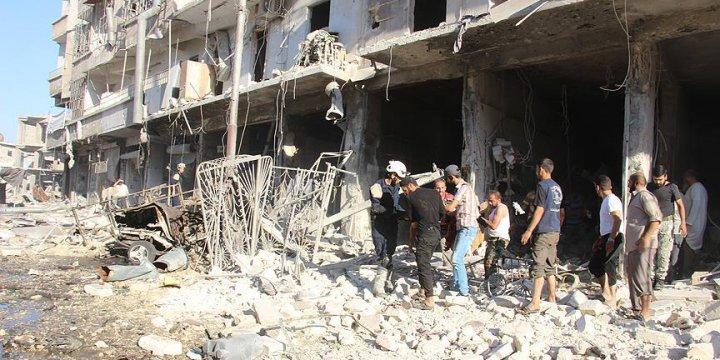 Esed Güçlerinden Halep'e Hava Saldırısı: 16 Ölü, 25 Yaralı
