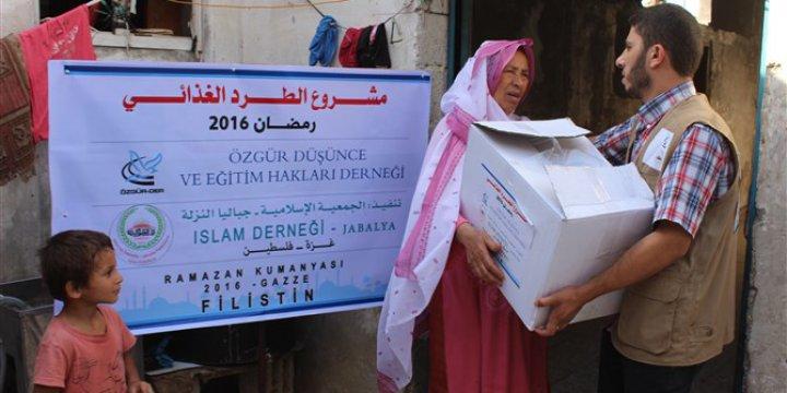 Özgür-Der'in 2016 Ramazan Kumanyaları Gazze'de Dağıtıldı