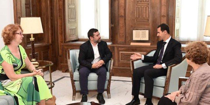 AP Heyeti Şam'da Diktatör Esed'le Görüştü