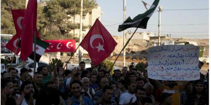 İdlip'te Darbe Girişimine Protesto