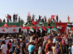 Azez'de Paralel Yapı'nın Darbe Girişimi Protesto Edildi