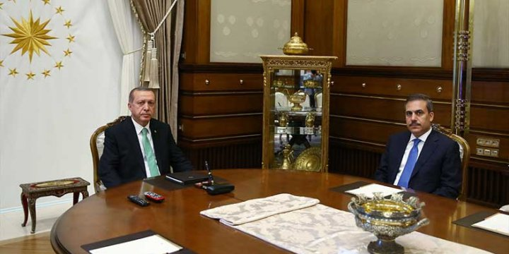 Erdoğan ve Fidan Görüşüyor