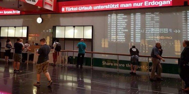 Dışişleri Viyana Havalimanı'ndaki O Yazıyı Kaldırttı