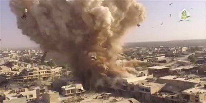 Direnişçiler Halep'te Esed'in Karargahını Havaya Uçurdu