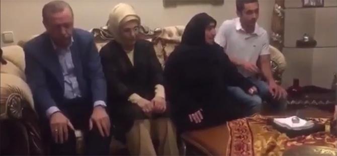 Erdoğan'dan Şehit Ailelerine Ziyaret (VİDEO)