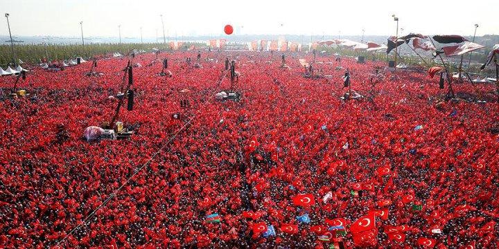 Yenikapı Mitingi'ne 5 Milyon Katılım