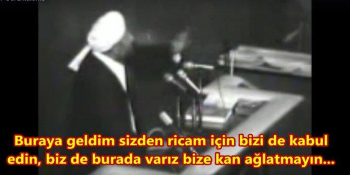 Sene 1981, İran Meclisinde Bir Sünni Milletvekili Konuşuyor