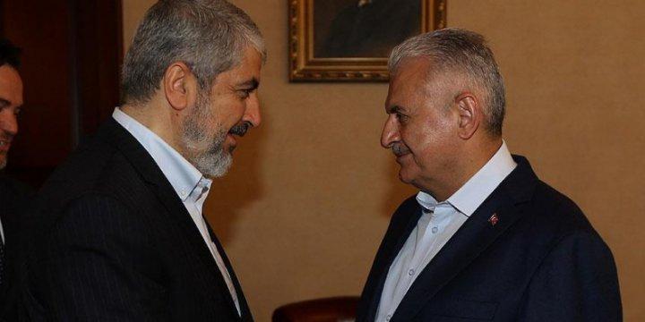 Başbakan Yıldırım ile Halid Meşal Telefonda Görüştü