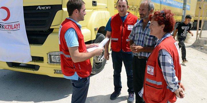 Türk Kızılayından Suriye'ye 10 Tır İnsani Yardım