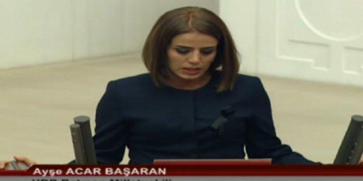 HDP'li Milletvekili Ayşe Acar Başaran'a 'Zorla Getirilme' Tebligatı
