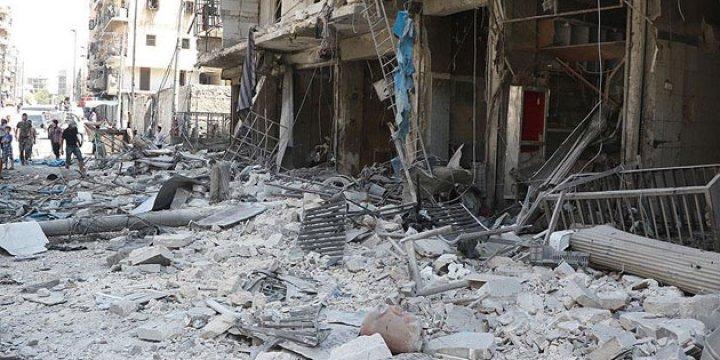 Halep'te Pazar Yerine Saldıran Esed ve Rusya  20 Kardeşimizi Katletti!