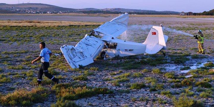 Tekirdağ'da Eğitim Uçağı Düştü