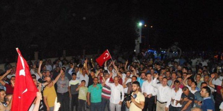 Siirt'te Halk PKK'ya Karşı Huzur Nöbetinde