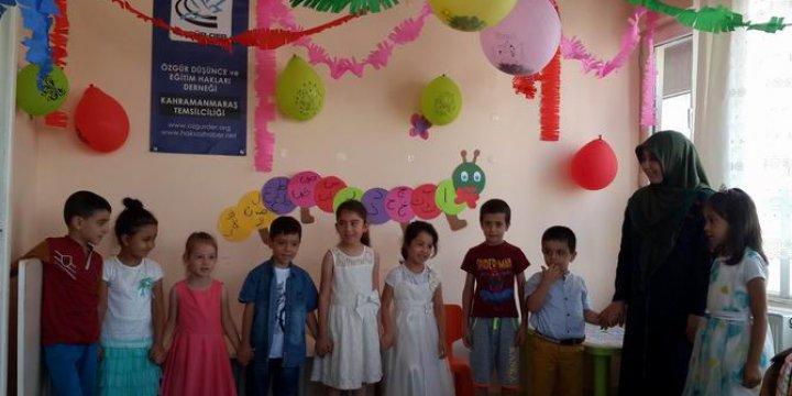 Kahramanmaraş Özgür-Der Yaz Okulu Sona Erdi
