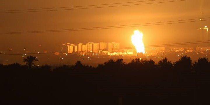 Siyonist İsrail'den Gazze'ye 70 Füzeyle Hava Saldırısı