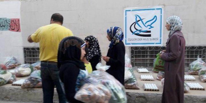 Muş Özgür-Der'den Halep Halkına Yardım