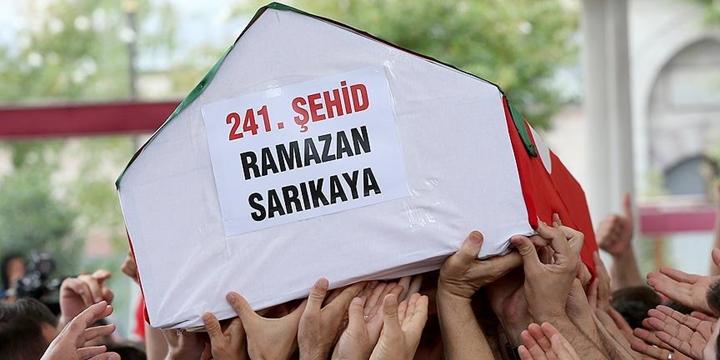 Şehid Ramazan Sarıkaya Toprağa Verildi