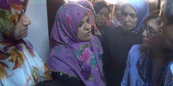 HDP'liler Çarşaflı Kadınları Taziye Evinden Çıkarmaya Çalıştı