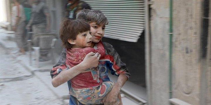 Halep'te 100 Binden Fazla Çocuk Mahsur