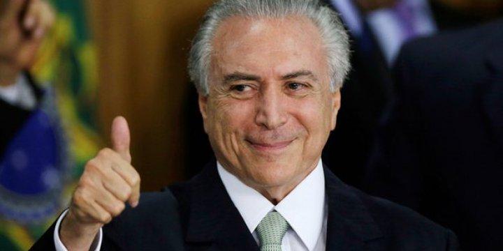 Brezilya'da Michel Temer'i Başkanlık Koltuğuna Oturtan ABD Darbeyi Tamamladı