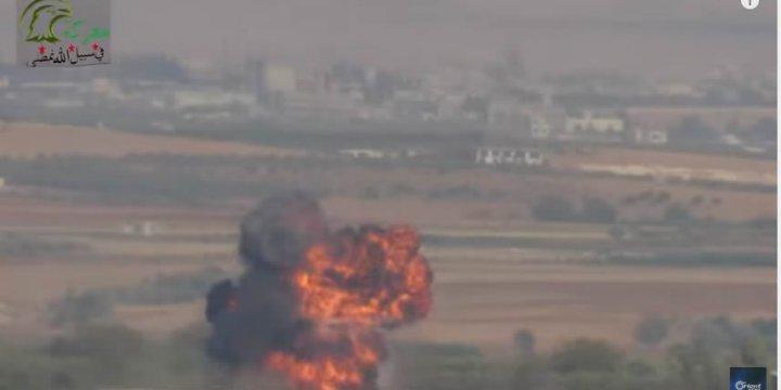 Direnişçiler Anti Tank Füzesiyle Rus Helikopterini Düşürdü