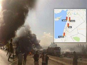 Suriye'de Eş Zamanlı 4 Patlama