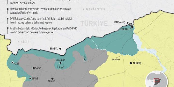 Azez-Cerablus'ta Güvenlik Koridoru Derinleşiyor