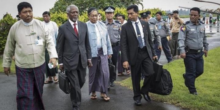 Kofi Annan Mynmar'da