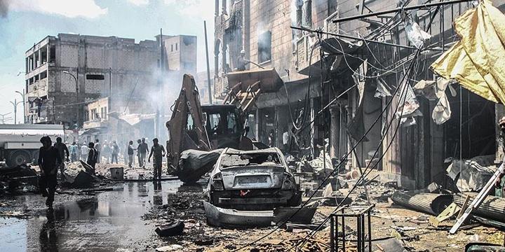 Esed Rejimi İdlib'de Çarşıyı Bombaladı: 28 Sivil Hayatını Kaybetti!
