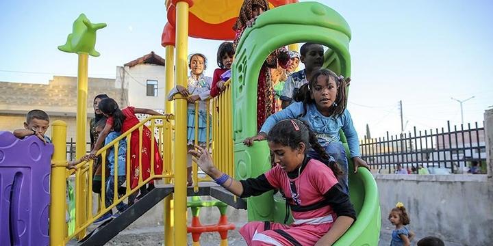 Cerablus'ta Çocukların Yüzü Gülüyor