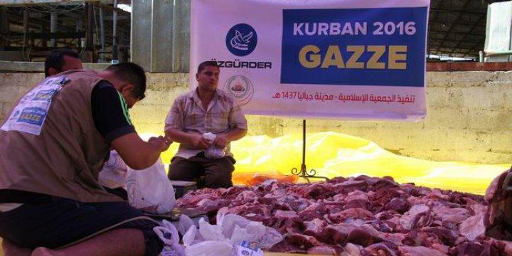 Özgür-Der Mensuplarının Kurbanları Gazze'de Kesildi