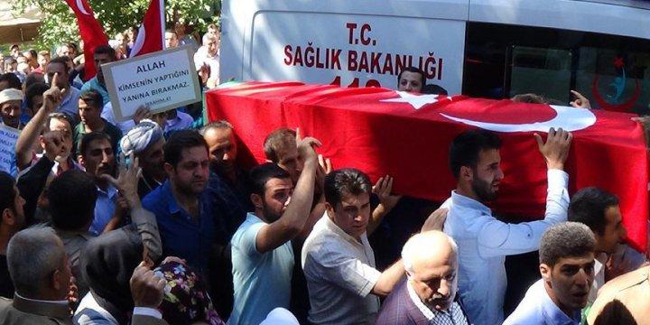 PKK'nın Katlettiği Ahmet Budak'ın Cenazesi Toprağa Verildi