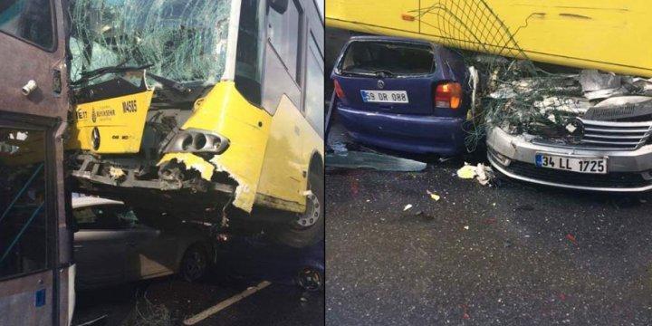Metrobüs Şoförüne Saldıran Şahıs 11 Kişinin Yaralanmasına Sebep Oldu