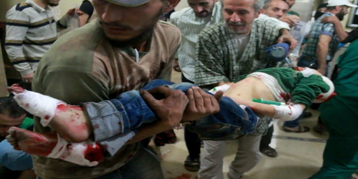 Halep'te Hastaneler Yaralılarla Doldu