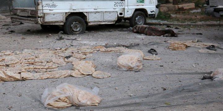 """""""Halep'te Silahsız İnsanların Üstüne Bomba Yağdırılıyor"""""""