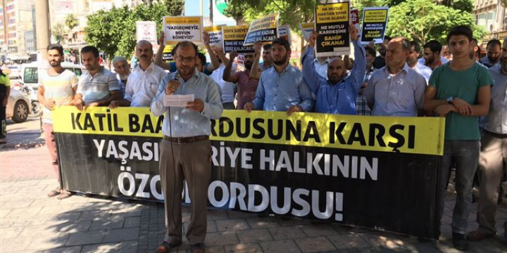 Halep Katliamı Adana'da Protesto Edildi