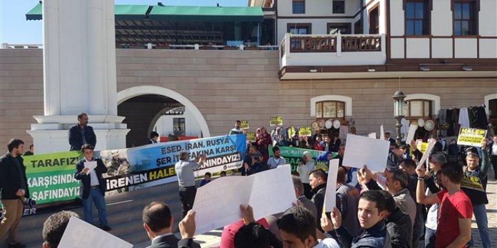 Halep Katliamı Ankara'da Polis Engeline Rağmen Protesto Edildi