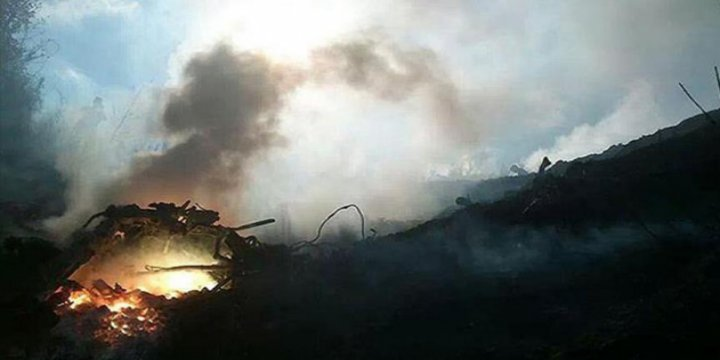 Gazze'yi Bombalayan İsrail F-16'sı Düştü