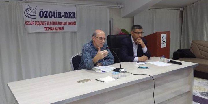 Tatvan Özgür-Der'de İslami Şahsiyetin İnşası Konusu İşlendi