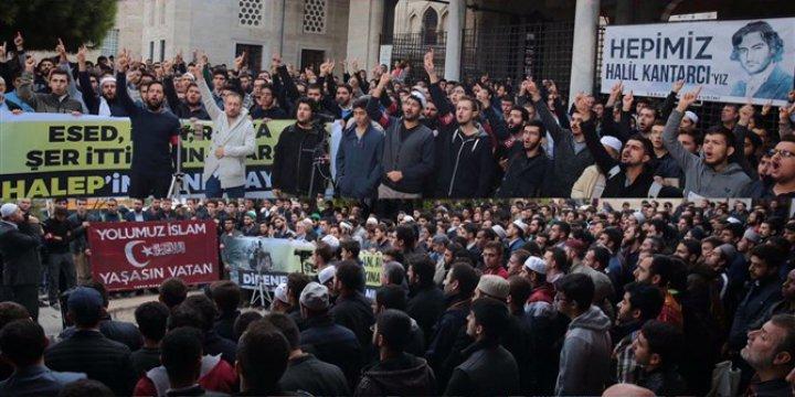 Gençler 15 Temmuz ve Halep İçin Toplandılar