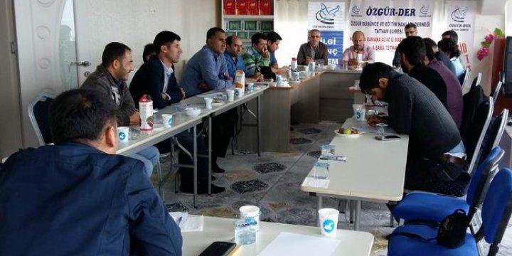 """Tatvan Özgür-Der'de """"Bölge İstişare Toplantısı"""" Gerçekleştirildi"""