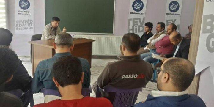 Muş Özgür-Der'de Türkiye ve Dünya Gündemi Değerlendirildi