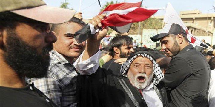Şiiler Bağdat'ta Elçilik Önünde Türkiye'yi Protesto Etti