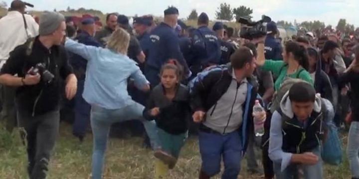 Mültecilere Tekme Atan Kameramana Ödül Verildi!