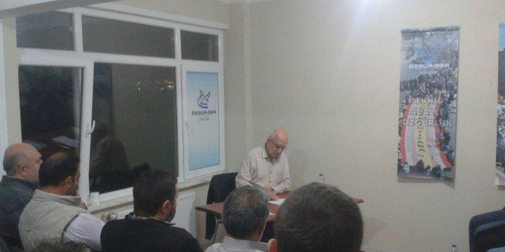 Üsküdar Özgür-Der'de 'Hayatı Anlamlandırmada Menziller' Konusu İşlendi