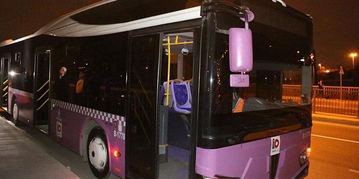 Beyoğlu'nda Yolcu Otobüsüne Molotofkokteyli Atıldı!